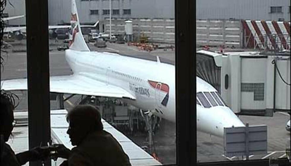 Concorde sett fra loungen - ikke så ruvende.