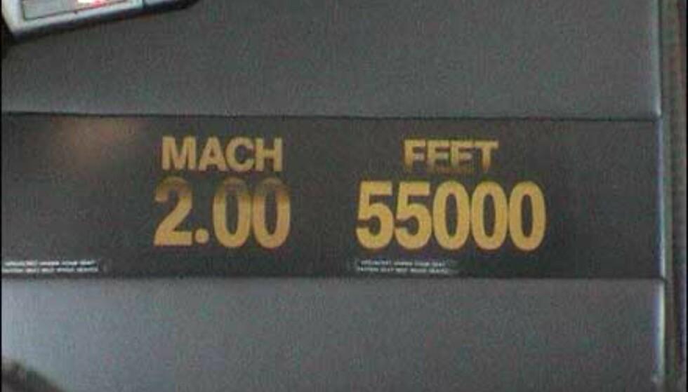 ... og full fart - Mach 2.