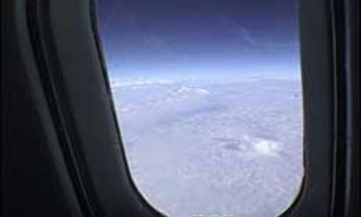 Jordens krumning sett fra Concordes små vinduer. Foto: Pål Sigurd Anthonsen  Foto: Pål Sigurd Anthonsen