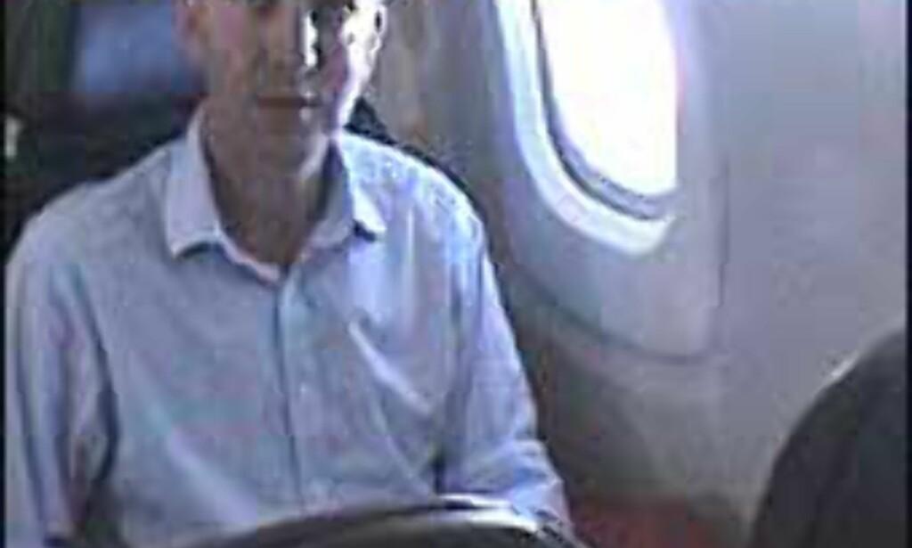 Pål Sigurd Anthonsen om bord i Concorde for noen uker siden. Foto: Pål Sigurd Anthonsen