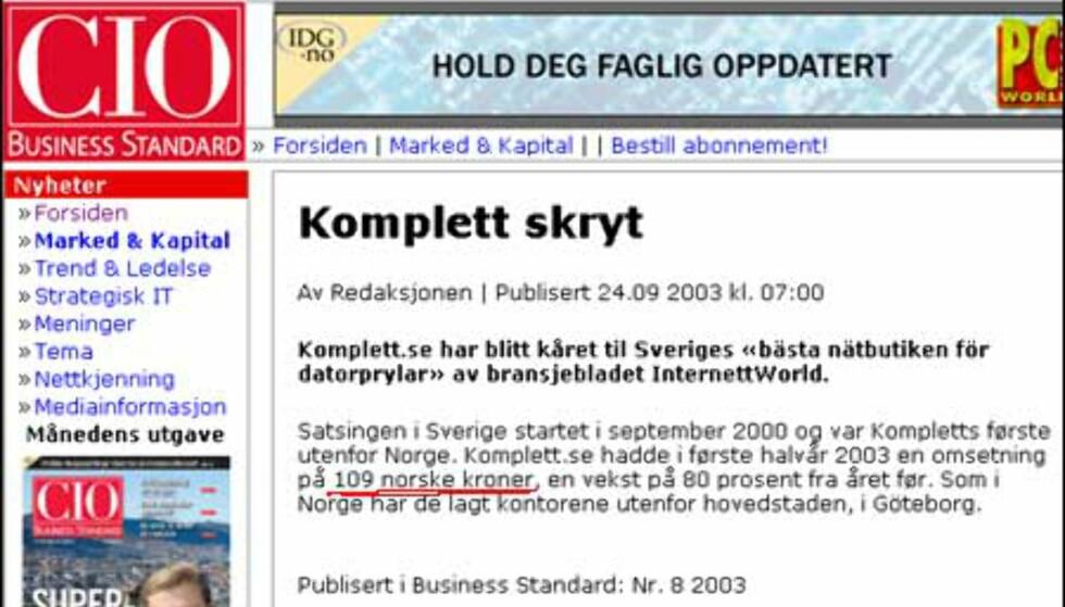 Slår seg opp i Sverige