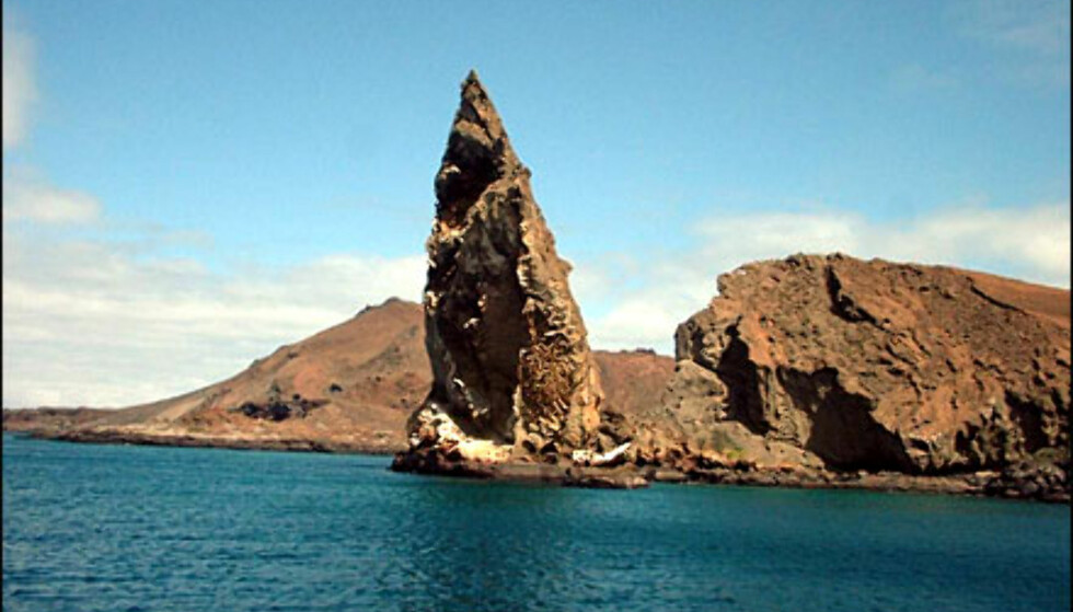 Pinnacle Rock på Bartholomé Island, Galápagosøyene. Foto: Agnes Gram Foto: Agnes Gram