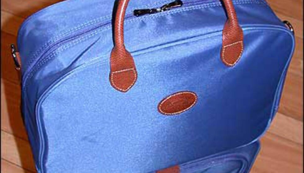 Mer for damene; dette settet fra Longchamp kommer også i grønt, rødt, marineblått og brunt. Kabinkoffert og bag koster 2.300 kroner samlet. Ta med en matchende sammenleggbar handleveske for 575 kroner (henger foran på kabinkofferten).