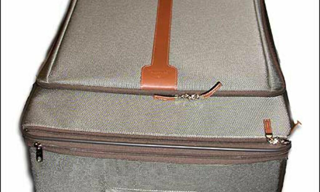 Olivengrønne med brunt skinn, ny serie myke kofferter fra Samsonite. Denne har innfelt trillehåndtak, og koster 2.399 hos Franz Schulz.