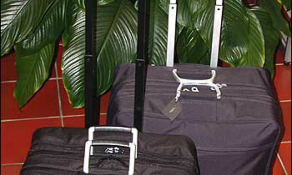 To kabinkofferter fra Lexon, den mørkeste er i Designserien (nylon), den andre i Airlineserien (mikrofiber). Priser er henholdsvis 1.385 og 1.265.