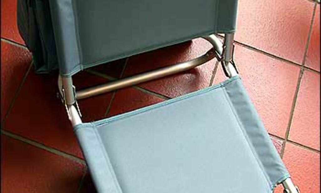 Nesten utenfor tema dette? Nei, egentlig ikke. Dette er faktisk en kombinert strandstol og bag. Med isolert rom for kalde varer. Ultralett og sammenleggbar, med både skulderrem og mange små ekstrarom. Fra Lexon, prisen er 1.020 kroner.