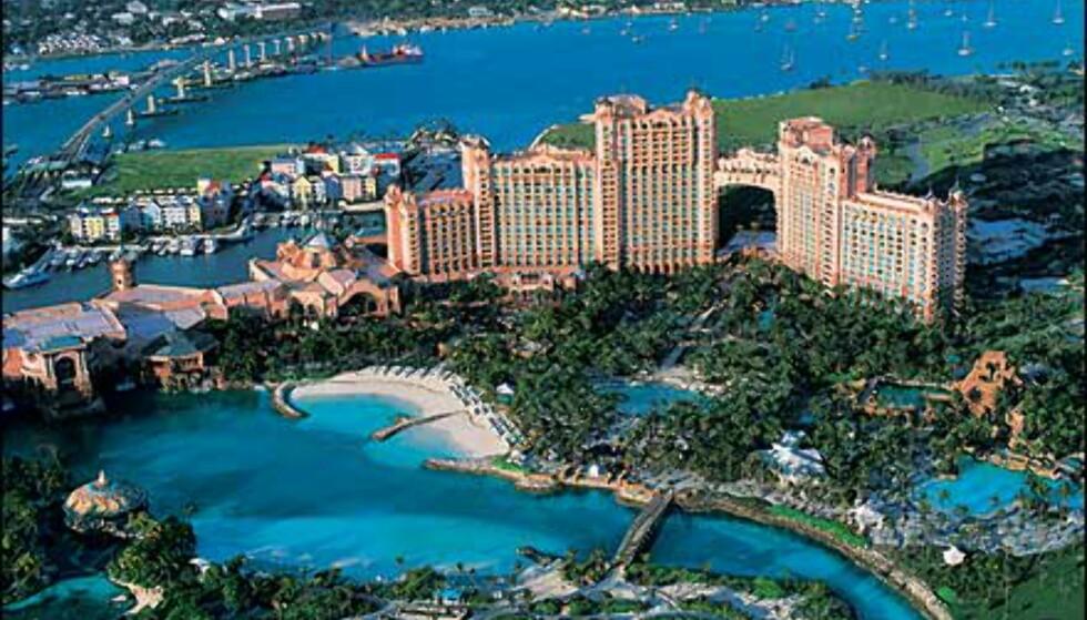 Atlantis på Bahamas ligger på Paradise Island. Foto: Kerzner