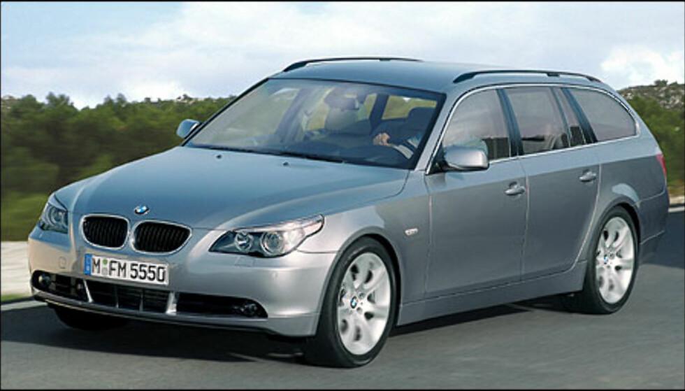 BMW 5-serie Touring (bildet er manipulert).