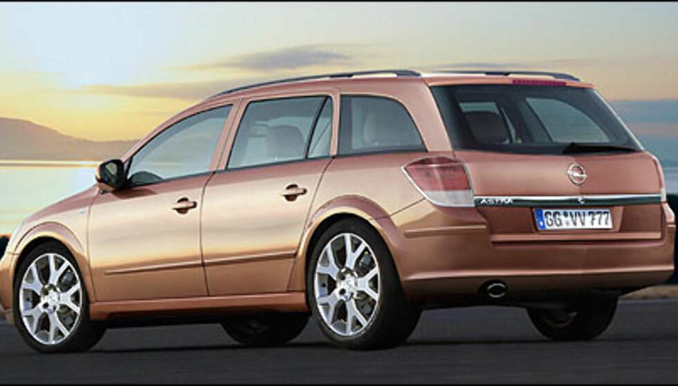 Opel Astra Caravan (bildet er manipulert).