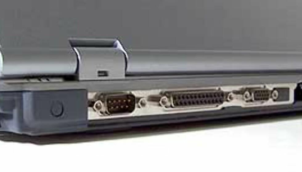 Lifebook E4010 har standard seriellport, noe som slett ikke er vanlig på nyere bærbare PCer.