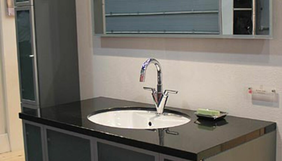 Se bilder av bad og kjøkken