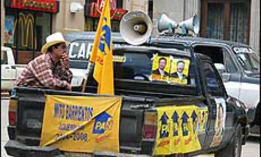 Valgkamp i Guatemala.
