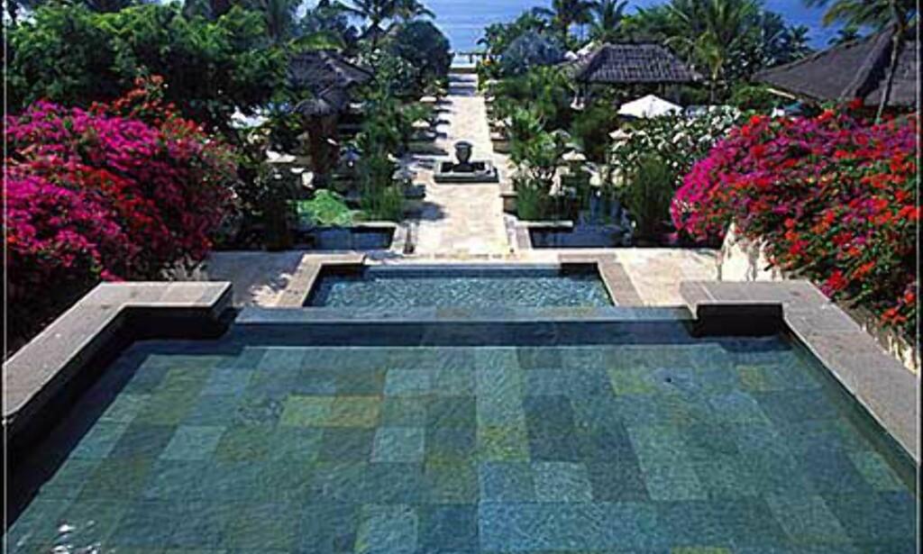 Hage ved Ritz-Carlton, Bali.