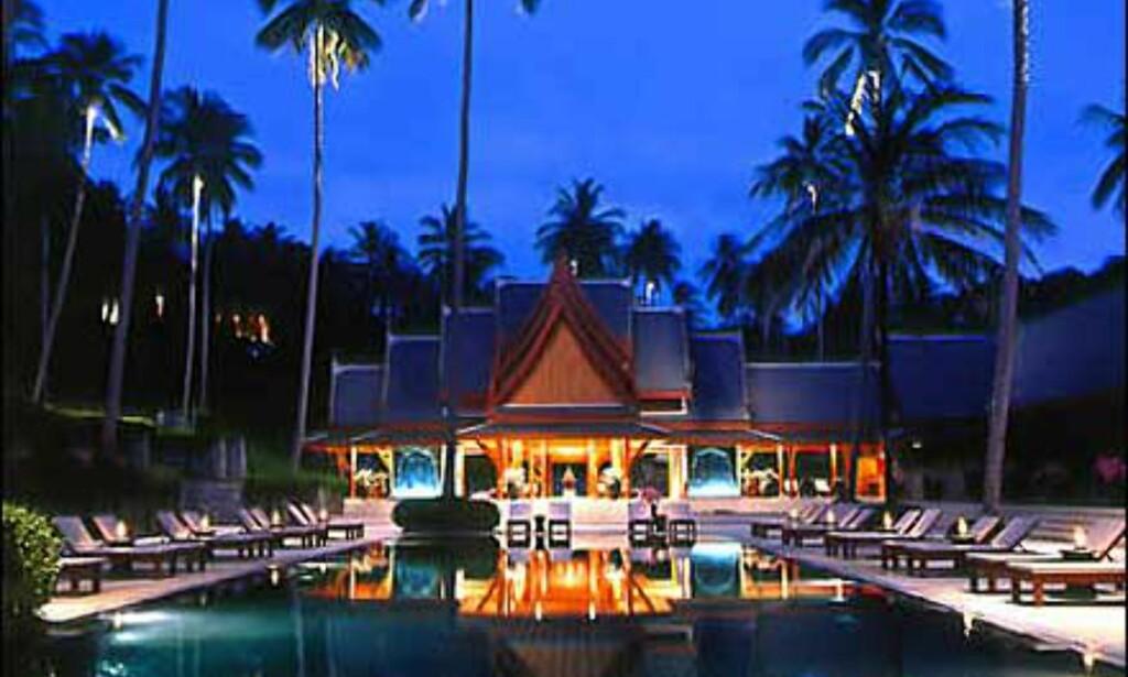 Amanpuri ligger på Phuket, men hører neppe med til det jevne charterutvalget.