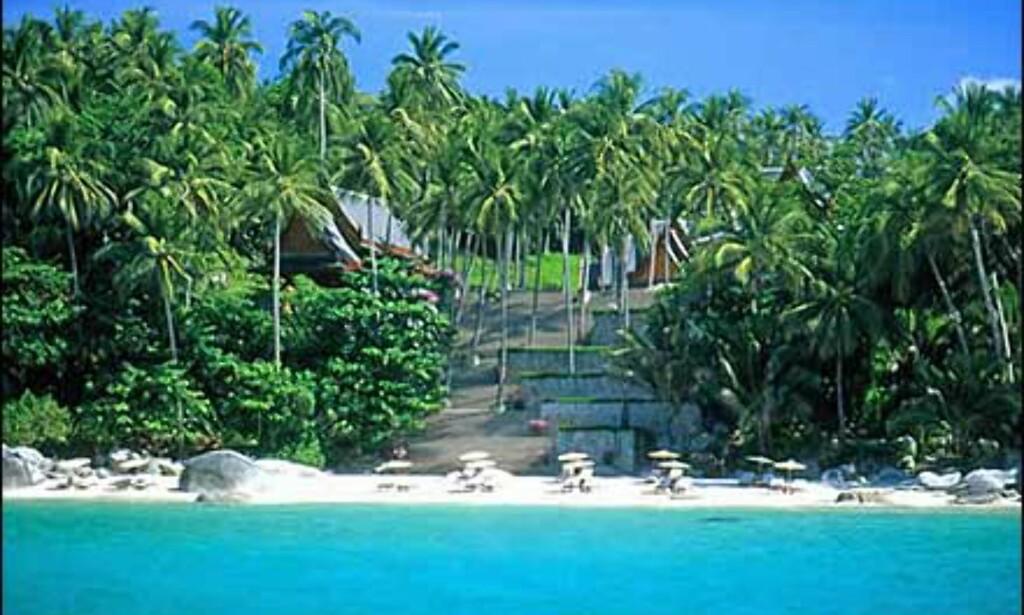 Amanpuris egen strand.