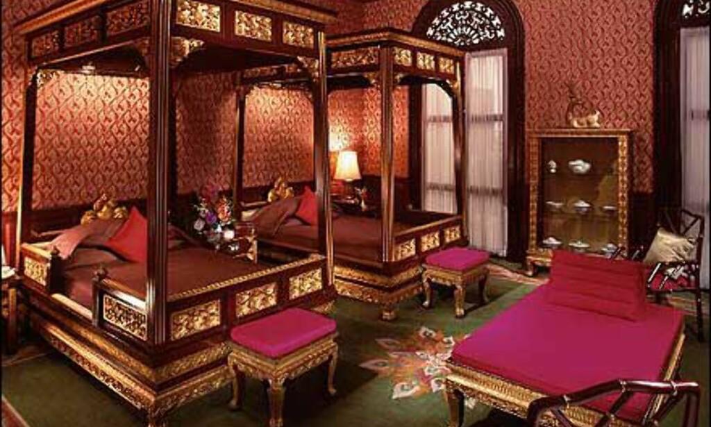 Mange forskjellige stiler på The Oriental. Her er et av rommene.