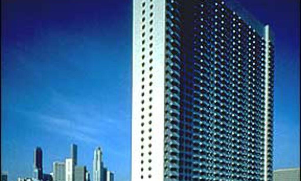Ritz-Carlton i Singapore er kanskje ikke noen øyenspryd fra utsiden.