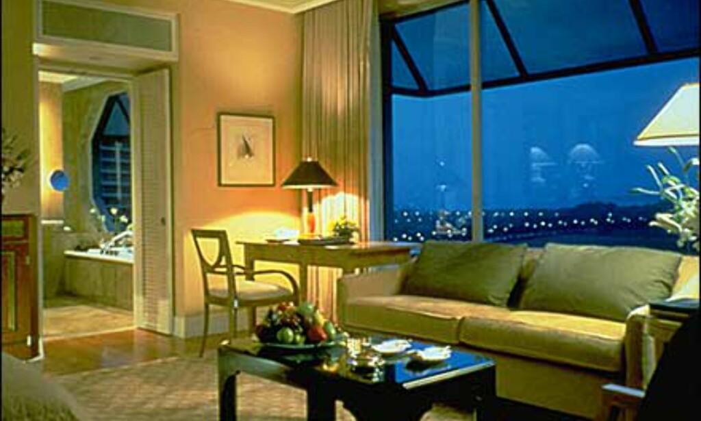 Historien blir en annen for den som har anledning til å se Ritz-Carlton Singapore fra innsiden.