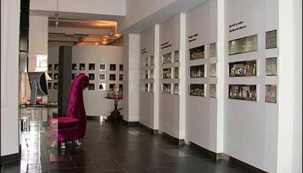 En del av utstillingslokalet.