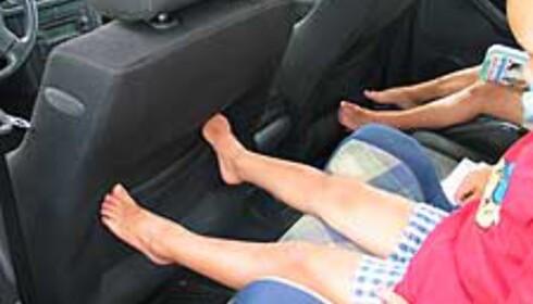 Barna hadde overraskende god plass til bena!