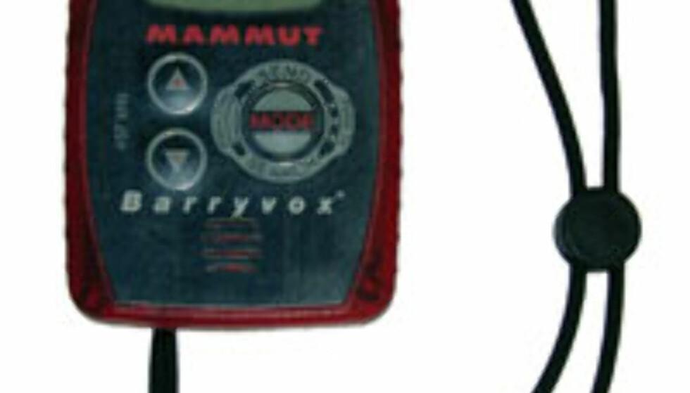 Skredsøker: Mammut Barryvox. 2.995,- hos www.sportsnett.no.
