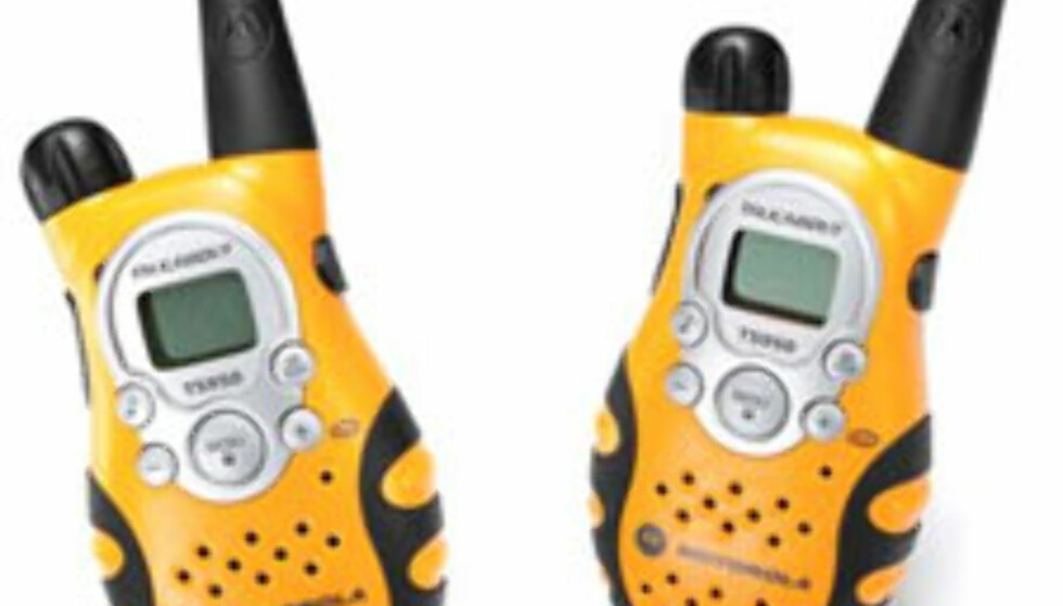 Fjellradio: Motorola Talkabout T5950 FRS. $90 i USA.