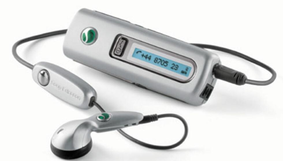 Bluetooth-headsett som viser hvem som ringer