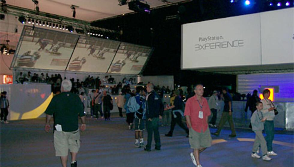 Inne i PlayStation Experience, et separat arrangement ved siden av ECTS