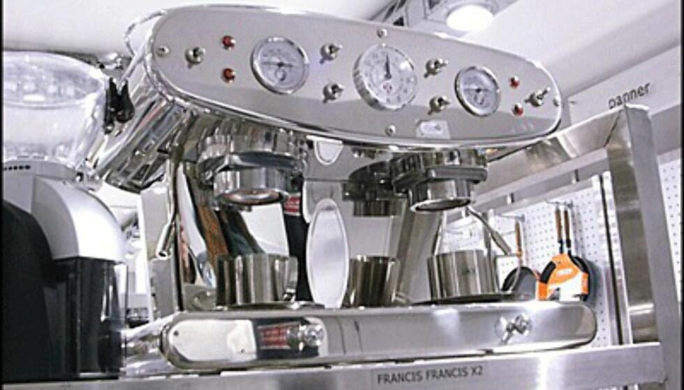 Standsmessig dobbel maskin fra Francis Francis. Pris: 9.900 kroner.