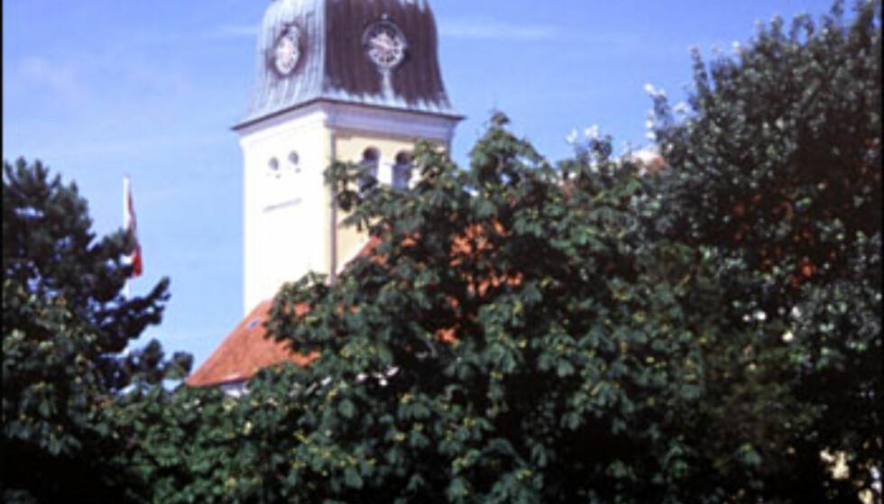 Skagen Kirke i sentrum. Foto: Kristin Sørdal