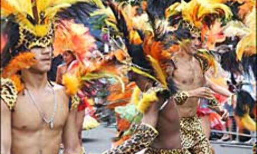 Dyrisk dekor preger disse gutta. Foto: Stine Okkelmo