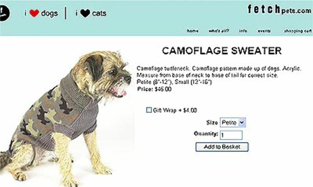 Kamo-jakke fra fetchpets.com. Pris: 45 dollar