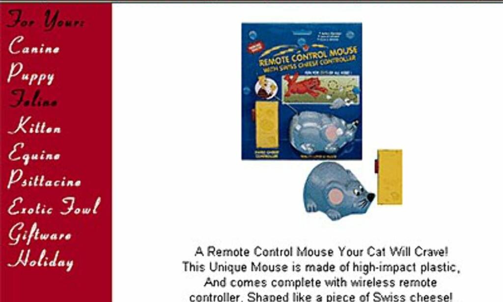 For late katter: Fjernstyrt mus til 20 dollar fra Uptownpets.com