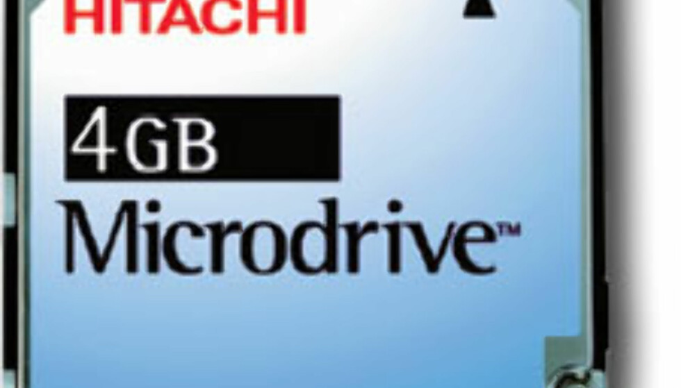 4 GB Microdrive rundt hjørnet