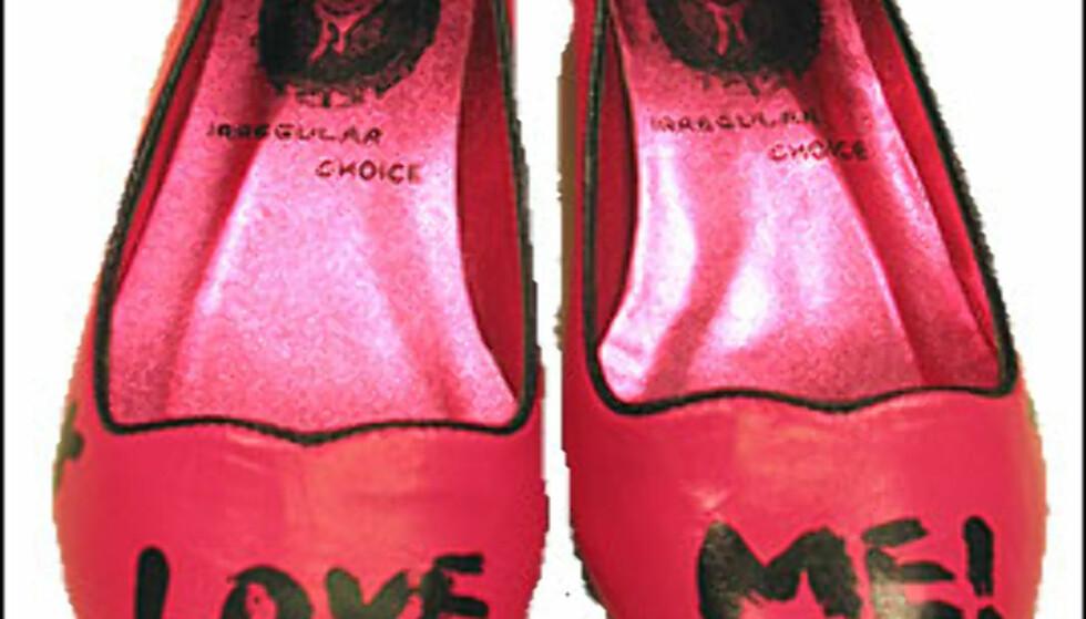 Yes, I love you! Sko fra Irregular Choice, fås hos Lille Vinkel sko i Oslo for 790 kroner. Foto: Inga Holst