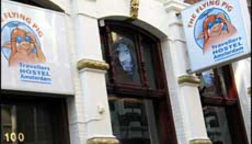 Mitt favoritt hostel i Amsterdam, The Flying Pig. Foto: Lene Heiberg
