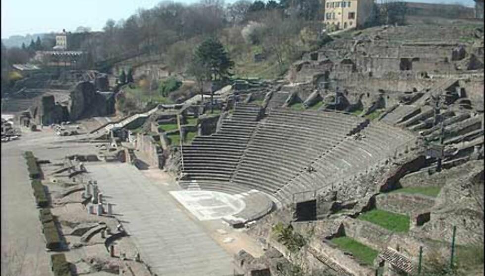 Det romerske teateret hvor det holdes konserter om sommeren. Foto: Stine Okkelmo