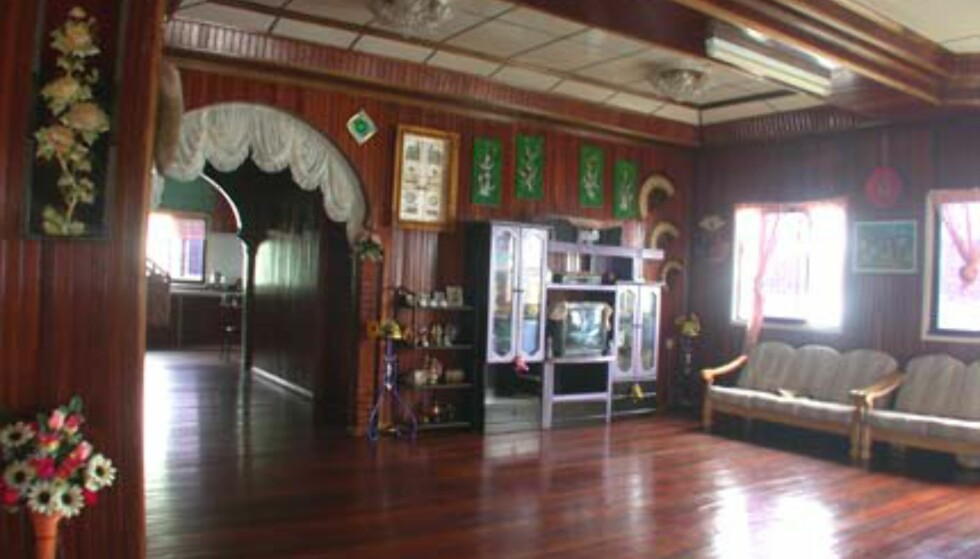 Nok et bilde fra huset til Rosanna Tan i vannlandsbyen. Lekkert.