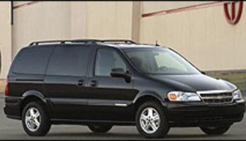 DYREST: Billigste utgave av Chevrolet Trans Sport koster 607.000 kroner.