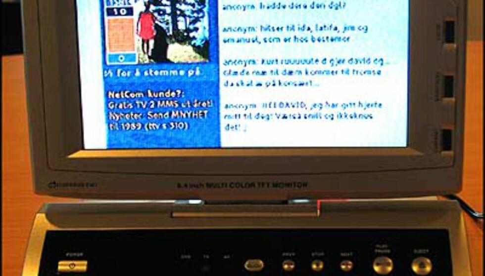 TV-bildet på den bærbare DVD-spilleren Cube 185. Veiledende pris blir 6.300.-