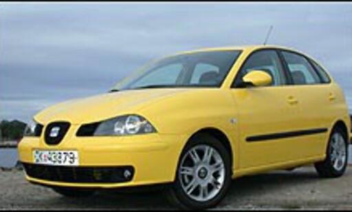 STØRST: Seat Ibiza og Skoda Fabia er 396 centimeter lange og dermed de lengste småbilene på markedet.