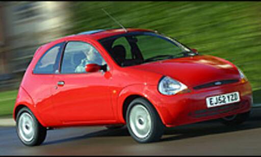 IKKE PRAKTISK: Ford Ka er kun tilgjengelig med tre dører.