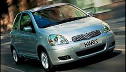 <strong>SIKREST:</strong> Toyota Yaris er ifølge Euro NCAP den sikreste småbilen på markedet.