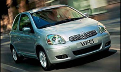 SIKREST: Toyota Yaris er ifølge Euro NCAP den sikreste småbilen på markedet.