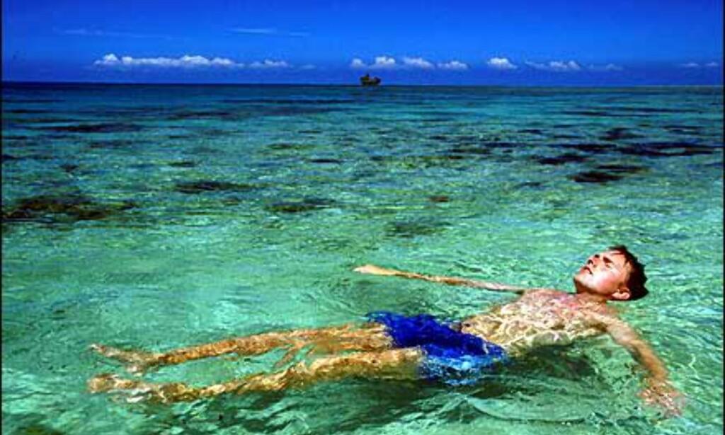 Flytende ferie på Fiji. Foto: Kjersti Djupvik Foto: Kjersti Djupvik