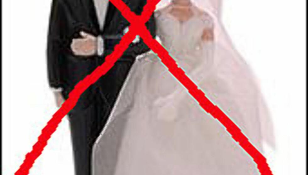 Idyllen brister. Nesten halvparten av alle inngåtte ekteskap ender i skillsmisse.