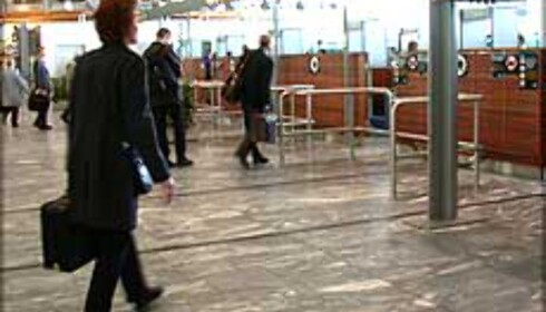 Sikkerhetskontrollen på Gardermoen. Foto: Karoline