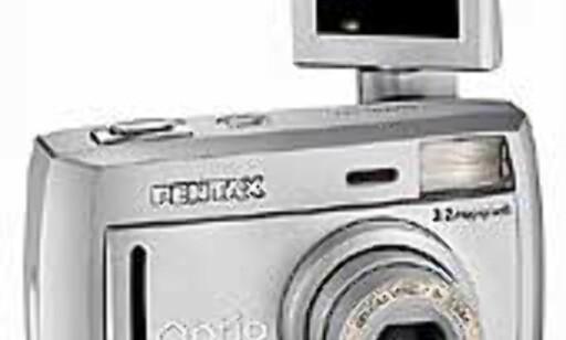 2. premie: Pentax Optio, verdens minste med 3,2 mill. pixel oppløsning.
