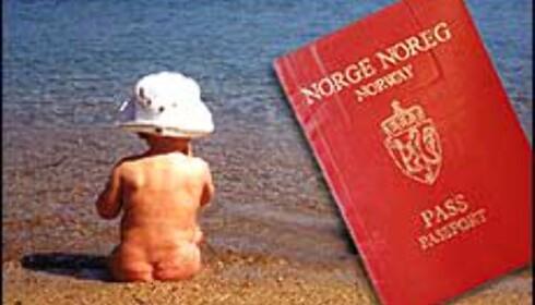 Småen trenger også pass, selv som baby. (Bildemontasje) Foto: Gry Ernie