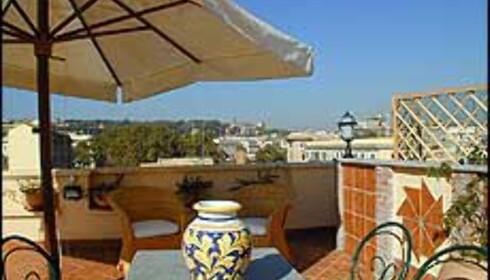 Hotel San Francescos takterrasse er et godt argument for å bo her. Foto: Hotellet selv